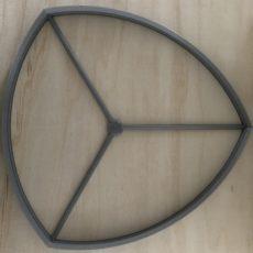 Cutter 02 to slab build a curvy triangular plate